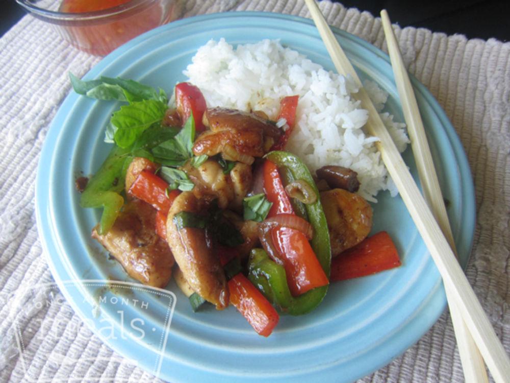 Thai Basil Stir Fry Chicken