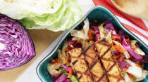 Grilled Sesame Ginger Tofu with Asian Chop Salad