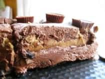 Chocolate Peanut Butter Cup Ice Cream Cake