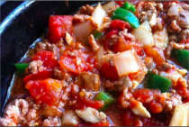 Slow Cooker Spicy Paleo Chili - Dinner Version