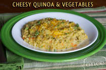 Cheesy Quinoa and Veggies- Lunch Version