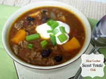 Slow Cooker Sweet Potato Chili- Lunch Version