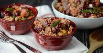 Quinoa Beet Salad - Vegetarian Version