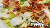 Crock Pot Low Carb Bacon Broccoli Chicken- Dinner Easy Assembly Version