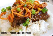 Crockpot Korean Style Short Ribs- Dinner Version