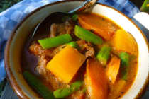 Gluten Free Dairy Free Beef and Butternut Squash Stew- Dinner Easy Assembly Version