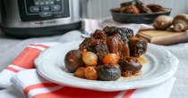 Slow Cooker Cherry Balsamic Beef Short Ribs