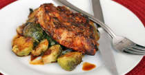 Instant Pot Pork Chops and Brussels Sprouts