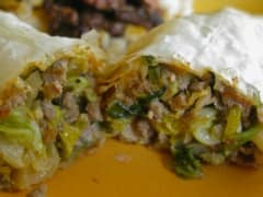 Baked Phyllo Egg Rolls - Lunch Version
