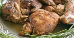 Nutmeg Nanny Honey Glazed Chicken Thighs - Dump and Go Dinner