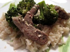 Slow Cooker Beef and Broccoli - Gluten Free Dairy Free - Lunch