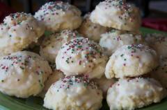 Glazed Sprinkle Sugar Cookies