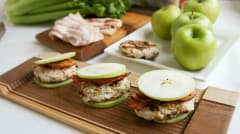 Paleo Chicken Apple Bacon Sliders - Breakfast Version