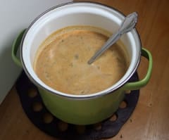 Butternut Poblano Soup - Lunch Version