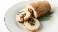 Gluten Free Dairy Free Stuffed Pork Roast - Dinner Version