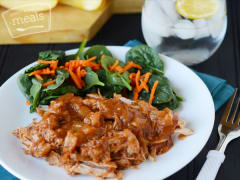 Instant Pot Apple BBQ Pulled Pork - Dump and Go Dinner