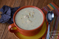 Green Chile Enchilada Soup - Lunch Version