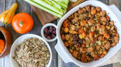 Gluten Free Sausage and Cranberry Stuffing