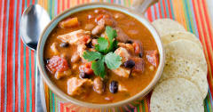 Instant Pot Chicken Taco Soup - Lunch