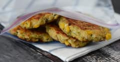 Gluten Free Dairy Free Taco Corn Fritters - Lunch Version