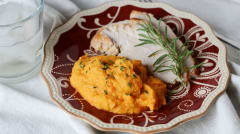 Turkey with Cauliflower Carrot Herb Mash - Lunch Version