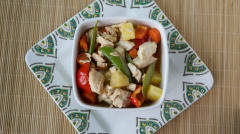 Slow Cooker Pineapple Pepper Chicken Stew - Dump and Go Dinner