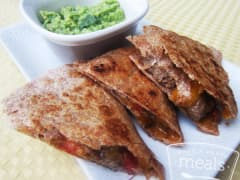 Better Than the Freezer Aisle: Make Your Own Evol Fire Grilled Steak Quesadillas with Guacamole - Lunch Version