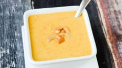 Curried Coconut Cauliflower Soup - Lunch Version