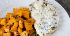 Creamy Slow Cooker Thyme Chicken - Dump and Go Dinner