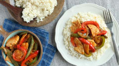 Red Coconut Curry with Chicken and Jasmine Rice