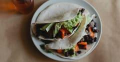 Sriracha Sweet Potato Black Bean Tacos - Dump and Go Dinner