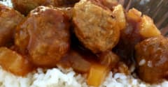 Gluten Free Dairy Free Sweet and Sour Meatballs - Lunch