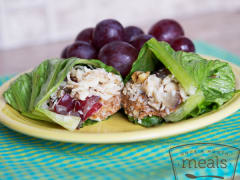 Gluten Free Dairy Free Chicken Salad Lettuce Wraps - Lunch Version