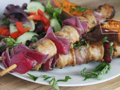 Balsamic Chicken Sausage Kebabs - Dump and Go Dinner
