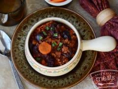 Slow Cooker Cherry Pork Chili - Dump and Go Dinner