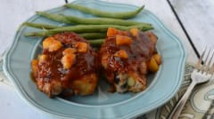 Instant Pot Peachy BBQ Chicken - Dump and Go Dinner