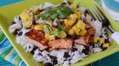 Caribbean Salmon and Rice with Tropical Salsa - Dump and Go Dinner