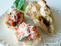 Pesto Stuffed Chicken - Dump and Go Dinner