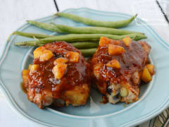 Peachy BBQ Chicken - Dump and Go Dinner