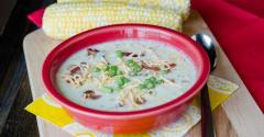 Sweet Summer Corn Chowder - Lunch Version