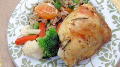 Citrus Herb Chicken with Tangerine Rice Pilaf