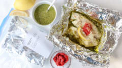 Tilapia and Pesto Foil Packets - Lunch