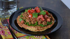 Gluten Free Dairy Free Double Decker Chipotle Bean and Turkey Tostadas