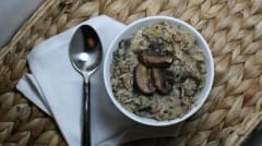 Paleo Creamy Chicken Mushroom Roasted Cauliflower Soup - Lunch Version
