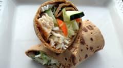 Lighter Thai Inspired Chicken Wraps - Lunch Version