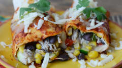 Sweet Summer Vegetable Enchiladas - Traditional Version