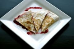 Cranberry Cream Cheese Quesadillas
