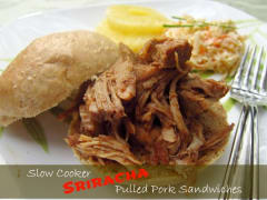 Slow Cooker Sriracha Pulled Pork Sandwiches - Lunch Version