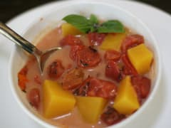 Paleo Tomato and Butternut Squash Soup- Lunch Version