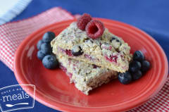 Red, White and Blueberry Quinoa Scones